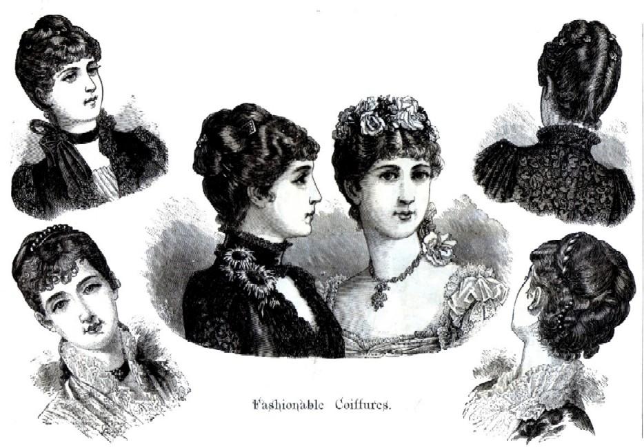 fashionable coiffures 1884